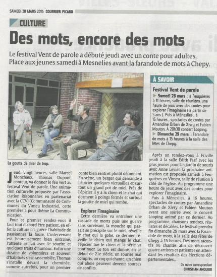 Courrier picard 28 mars vdp