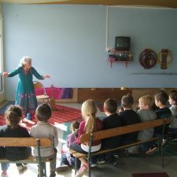 Claire Garrigue à l'école maternelle de Chepy